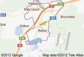 Mapa katastru Kařez